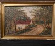 Старинная живопись, датирована 1915 г.