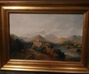 Большая антикварная живопись 1889 г.