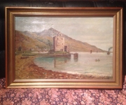 Антикварная живопись, дата 1896 год