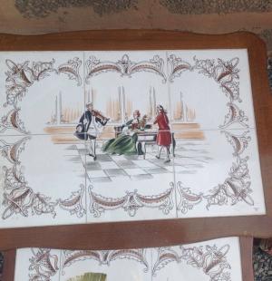 Старинный сэт из трех столиков