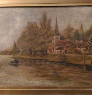 Старинная живопись, датирована 1924 г.