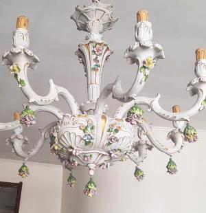Люстра каподимонте в стиле барокко (2 шт.)
