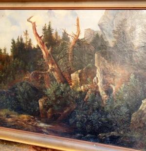 Европейская картина в охотничьем стиле