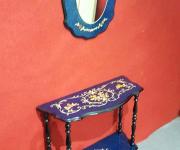 Консоль и зеркало в стиле шинуазри