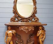 Столик консольный с зеркалом в стиле барокко