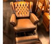 Кресло реклайнер винтажное