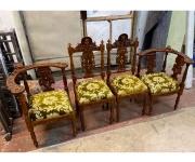 Комплект: кресло 2 штуки стул 2 штуки