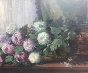 Старинная большая живопись, Пионы