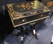 Стол антикварный с росписью