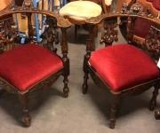 Кресло в стиле ренессанс (2 штуки)