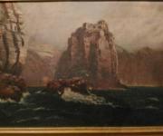 Антикварный морской пейзаж 19 века