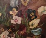 Антикварная живопись, незабудки
