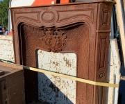 Чугунный каминный портал в стиле Ренессанс