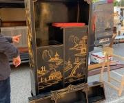 Шкаф/этажерка для прихожей в стиле Шинуазри