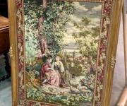 Вышивка в раме в стиле Людовик XV