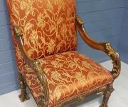 Кресло-трон в стиле Людовика XIV