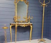 Консоль с зеркалом в стиле Людовика XV